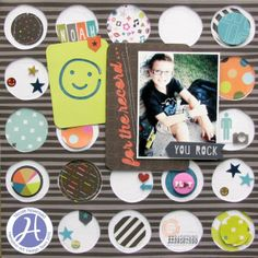 for the record Such fun circles! #layout #scrapbooking
