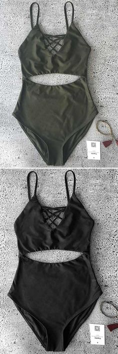 Get out of spider web and fall in love this crisscross one-piece! $19.99 Only with free shipping Now! This hollow bikini has back hook&padding bra. Enjoy this summer luxe at Cupshe.com