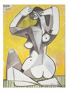 Pablo Picasso - Nue accroupie, 1954