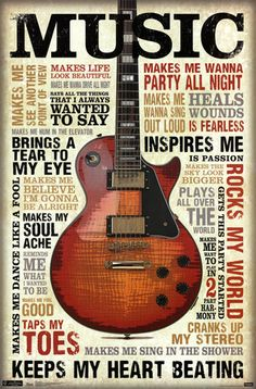 Music Inspires Me Poster at AllPosters.com