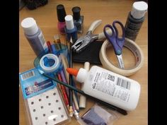 Nail Art Tips With School Supplies
