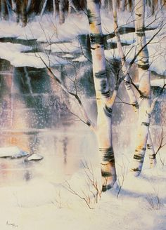 Stand Of Birch Painting - Stand Of Birch by Teresa Ascone