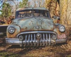 1950 Buick Special Classic Car Photography Abandoned Rusted Car Man Cave Decor Manly Garage Decor Car Enthusiast Gift for Him For Dad Man Cave Garage, Car Man Cave, Vintage Trucks, Old Trucks, Vintage Auto, Garage Metal, Lac Michigan, Buick Cars, Rusty Cars