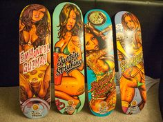 I loved the Rockin' Jelly Bean series of Decks from Santa Cruz so much that I actually bought the whole set. A canvas is a canvas and a print is a print.