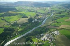 Aberlour,River Spey,Whisky country.Aerial photograph Scotland.Prints 18x12 £25 24x16 £35 same size on canvas ready to hang £60. Order via website www.scotaviaimages.co.uk