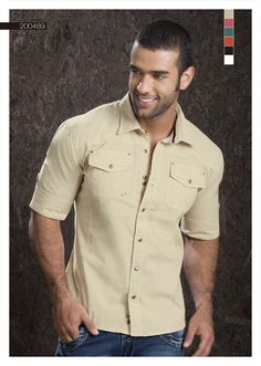 Camisa-para-hombre-color-beige-manga-tres-cuartos -beige-shirt-for-men- three-quarter-sleeves-3 Sexy, yet Casual Mens Fashion #sexy #men #mens #fashion #neutral #casual #male #males #guy #guys #hot #hotlooks #great #style #styles #hair #clothing #coolmensoutfits www.ushuaiajeans.com.co
