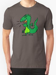 Silly Yelling Dino T Shirts And Gifts - Cartoon,Animal,Animals,Funny,Humor,lol,Sticker,Tees,Shirts,tshirts,Cute,Silly,Sweet,Happy,Fun,Character,Cool,Awesome,Adorable,Graphic,for,Drawing,Doodle,TV,movies,friend,friends,gift,gifts,ideas,him,her,children,kids,son,daughter,nursery,art,t-shirt,t-shirts,tees,tshirt,shirt,birthday,buy,online,mugs,mug,i phone,ipad,cases,laptop,skins,wall clock,fashion,home decor,scream,loud,screaming