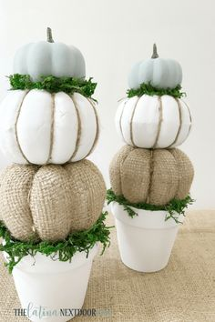 Dollar Store Faux Pumpkin DIY Crafts with Farmhouse Charm – The Cottage Market - diy und selbermachen ideen Fall Topiaries, Pumpkin Topiary, Diy Pumpkin, Pumpkin Crafts, Pumpkin Wreath, Dollar Tree Pumpkins, Dollar Tree Fall, Dollar Tree Crafts, Dollar Store Hacks