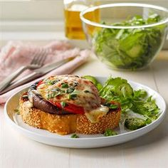 Portobello Melts Recipe -We're always looking for satisfying vegetarian meals, and this one tops the list. These melts are especially delicious in the summer when we have tons of homegrown tomatoes. —Amy Smalley, Morehead, Kentucky