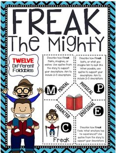 18 Best Teaching FREAK    THE MIGHTY    by Rodman Philbrick