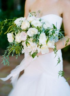 Romantic Bouquet with Peonies and Garden Roses | Brides.com