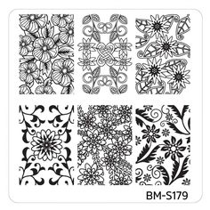 Mystic Woods Nail Stamp Plate - Woodland Abstracts