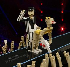 Miley Cyrus And Robin Thicke's VMA Performance. In Lego.