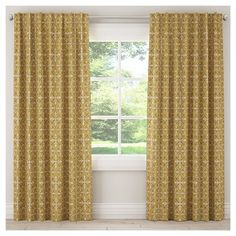 Skyline Blackout Curtain in Paris Tile - paris tile yellow), Skyline Furniture(Fabric, Abstract) Cool Curtains, Hanging Curtains, Window Curtains, Insulated Curtains, Thermal Curtains, Piano Studio Room, Light Blocking Curtains, Curtain Styles, Modern Victorian