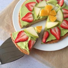 Fruit Pizza with a Maple Quinoa Crust from Almonds & Avocados