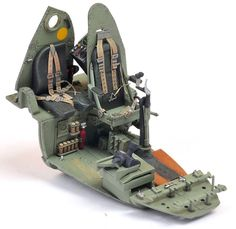 Tamiya 132 Mosquito Cockpit Painted