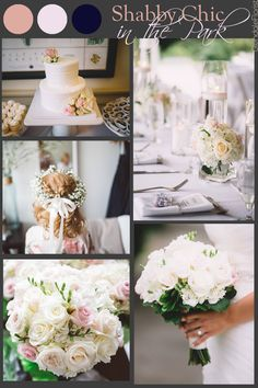 Glendale Florist | Shabby Chic in the Park Summer Wedding, Soft Shabby Chic Color Scheme