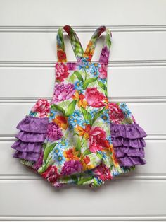 942e5fe2c Baby Girl Romper, Baby Romper, Girls Romper, Bubble Romper, Baby Girl Outfit