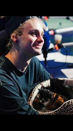 Michael and kitties is the best thing I've ever seen