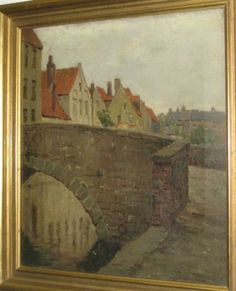 """""""A Quaint Corner, Bruges,"""" Charles Warren Eaton, oil on canvas, 18 x 16"""", private collection."""