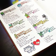 my first complete dailies page! first theme: cactus! I kept it simple in terms…