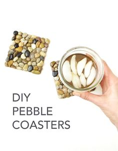 Learn how to make coasters with river rock pebbles! This project is easy, affordable and makes a great gift!