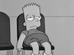 Shared by The Simpsons. Find images and videos about black and white, sad and mood on We Heart It - the app to get lost in what you love. Simpson Wallpaper Iphone, Sad Wallpaper, Cartoon Wallpaper, Iphone Wallpaper, Cartoon Memes, Cartoon Pics, Cartoons, Cartoon Profile Pictures, Sad Pictures