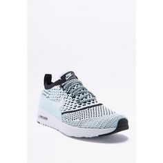 Nike Air Max Thea Baby Blue Mesh Trainers ($140) ❤ liked on Polyvore featuring shoes, sneakers, blue, nike footwear, mesh sneakers, lightweight shoes, lightweight sneakers and baby blue sneakers