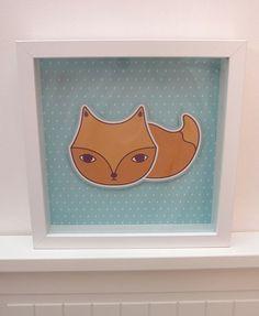 Illustration en relief - Little fox
