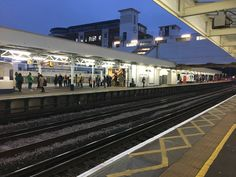 Looking across to platforms 1 & 2 at #Surbiton station from platform 3