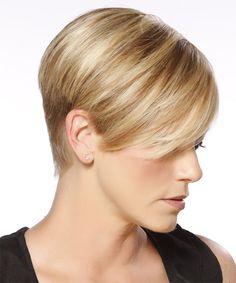 Short-blonde-hair Short Haircut and Color Ideas Haircuts For Straight Fine Hair, Stylish Short Haircuts, Very Short Haircuts, Latest Short Hairstyles, Pixie Hairstyles, Short Hair Cuts, Pixie Haircuts, Short Pixie, Stacked Hairstyles
