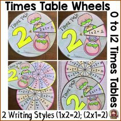 TeachToTell  from  MULTIPLICATION: TIMES TABLES: CENTERS ACTIVITY on TeachersNotebook.com -  (56 pages) - Help your students know their multiplication tables with this fun interactive 0 to 12 times tables wheel pack.