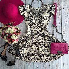 2016 Moda Mulheres vestido de verão vestido de festa Moda Casual o-neck mangas Lace vestido A-Line Mini vestido sexy Brasil ...