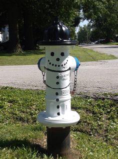 Snowman fire hydrant at 6th an Godfrey St.