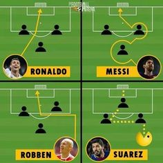 Ronaldo always kicks hard and dont think. Messi always plays smart and scores easy goal. Robben I dont know his playing way. Suarez ye he sometimed go throught the players. Memes Humor, New Memes, Funny Memes, Hilarious, 9gag Funny, Funny Videos, Funny Football Memes, Soccer Jokes, Funny Sports Memes