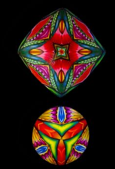Kaleidoscope pendants by Lisa Gauthier, Simmons Master Cane Workshop, Oct, 2014 CarolSimmonsDesigns.com.