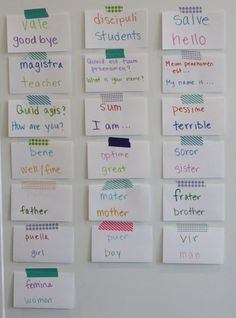 An idea for displaying/learning our latin words here. Pleated Poppy homeschool room tour.