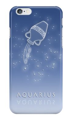 """iPhone case """"Aquarius Zodiac constellation - Starry sky"""" iPhone Cases & Skins by chartofthemoment.com. Zodiac gifts available as iPhone case/skin/wallet, iPad case/skin, Laptop skin/sleeve, throw pillow cover,tote bag,mug,travel mug,drawstring bag,T-shirt,hoodie,sweatshirt,tank top and more on RedBubble."""
