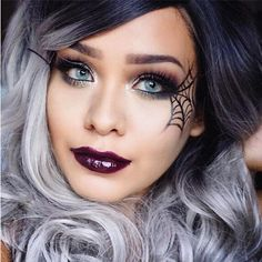 Pin for Later: 25 Spiderweb-Themed Makeup Ideas That Will Turn Heads on Halloween Vampy Vixen