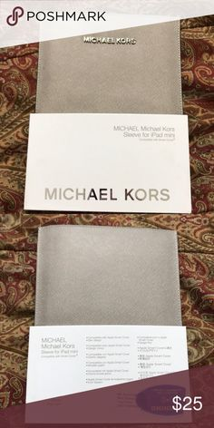 Authentic MIchael Kors sleeve Authentic MIchael Kors sleeve. Color: pearl grey Michael Kors Other