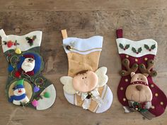 Christmas Decorations Sewing, Red Christmas Ornaments, Merry Chistmas, Christmas Stocking Pattern, Christmas Clay, Felt Crafts, Vintage Christmas, Christmas Crafts, Diy And Crafts
