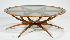 "Danish Modern ""Spider"" Coffee Table c1950s."