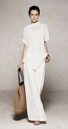 Sarah Pacini  This I might be able to wear  , but not in white, some soft off white shade.