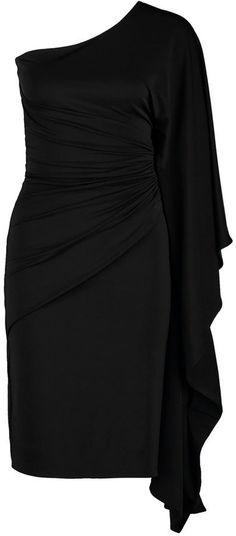 """Pin for Later: Die besten """"kleinen Schwarzen"""" Kleider für Party, Weihnachtsfeier & mehr   CoutureOne """"TOSCA"""" schwarzes, One-Shoulder Kleid (170 €)"""