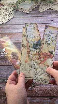 Junk Journal, Bullet Journal, Digital Collage, Holographic, Bookmarks, Embellishments, Bookmark Ideas, Paper Crafts, Scrapbook