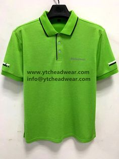 polo shirts in green color for outdoor running, sport Custom Polo Shirts, Tee Shirts, Tees, Custom Embroidery, Baseball Cap, Running, Sport, Jackets, Outdoor