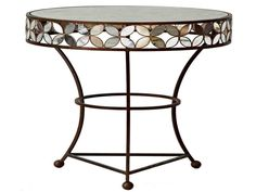 Antique Mirror Side Table - eclectic - side tables and accent tables - Stray Dog Designs Unique Mirrors, Round Mirrors, Side Table Decor, Table Decorations, Modern Decor, Modern Furniture, Bar Height Table, Round Side Table, Side Tables