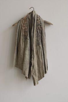 Love the embellishment around the collar - Manon Gignoux.