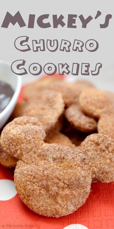 Try these easy and delicious Disney-inspired Churro Cookies shaped like Mickey Mouse Hop over to As The Bunny Hops for the recipe and a ton of Disney-themed fun including DIYs Recipes and Disney Desserts, Disney Dishes, Disney Snacks, Köstliche Desserts, Delicious Desserts, Dessert Recipes, Disney Cakes Easy, Disney Food Recipes, Mickey Mouse Desserts