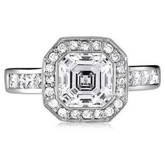 Sterling Sterling 925 Asscher and Princess Cut by WeddingRingSets, $34.85